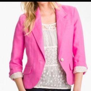 Nordstrom Beautiful Pink Linen3/4 Blazer by Gibson